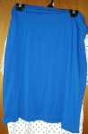 Bright blue skirt